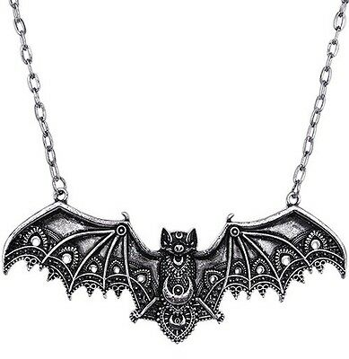 Halloween Restyle Lace Bat Necklace,Lace Wings, Gothic Bat, Gothic Jewellery