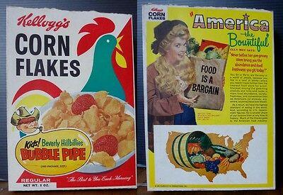 Corn Flakes Cereal Box 1963 Elly May Beverly Hillbillies bubble pipe offer