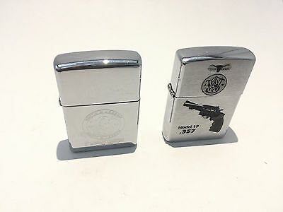 2X Smith & Wesson Zippo Combo, Logo and Model 19 .357