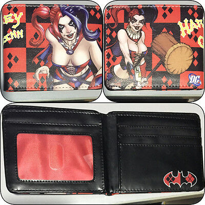 Bifold Wallet Harley Quinn Batman Boys Girls Villain Superhero Card Slot Heroes