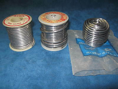 3- 1 lb  Spools WIRE SOLDER...50/50...Purchased New, Never Used