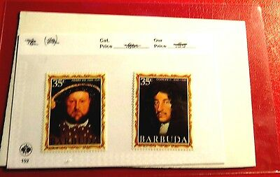 Barbuda Kings & Queens of England Series #20 & #27  Mint NH Stamps  ST54