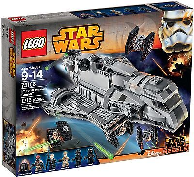 Lego Star Wars Imperial Assault Carrier 75106 *Brand New, Sealed* Free Shippng!!