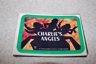 1977 Charlie's Angels 12 Card Sticker Set Kate Jackson And Farrah Fawcett