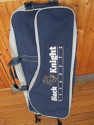 Large BLACK KNIGHT tennis badminton bag - Blue + Gray - Excellent condition