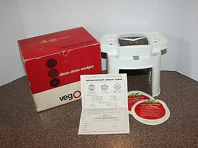 Vintage Veg-O-Matic Popeil Brothers 1969 Food Preparer #707 in Box Made In USA
