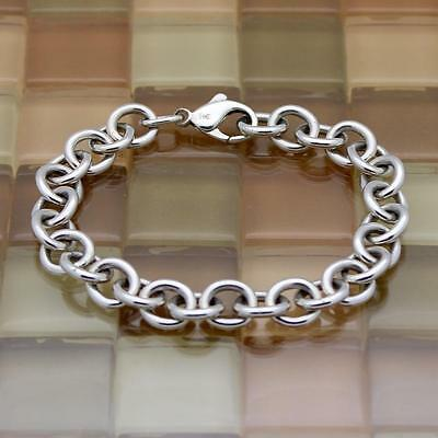 "James Avery Sterling Silver Classic Cable Charm Bracelet 8"" 28G RETAIL$150!!"