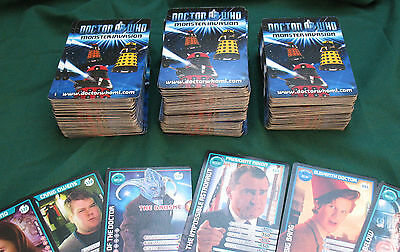 303 (approx) Doctor Who Monster Invasion cards, VGC.