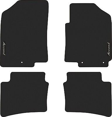 HYUNDAI ACCENT - RB SERIES - CAR FLOOR MATS FRONT AND REAR SET - 2011 to 2017.