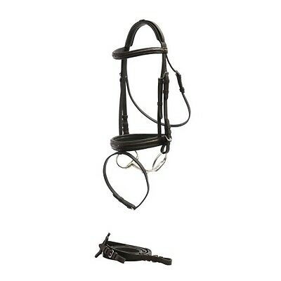 Norfolk Patent Croc Hanoverian Snaffle Bridle Brown Cob RRP $124.95
