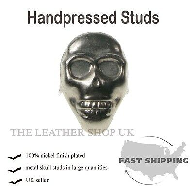 New Handpressed UK Gothic Skull Fitting Studs Punk Cloth Shoe Leather Accessory