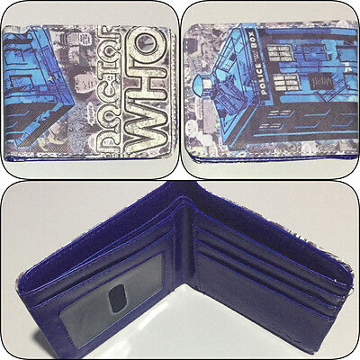 Doctor Who Dr Bi-fold Wallet Tardis Mens Boys Photo ID Card Time Travel Bofold