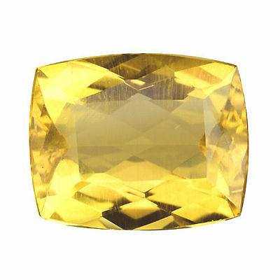 3.510CTS SUPER TOP LUSTER GOLDEN YELLOW NATURAL BERYL  (Heliodor) CUSHION
