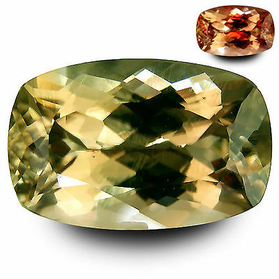 5.520Cts Super Top Luster Color Change Yellow Natural Diaspore Cushion Gemstones