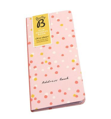 Busy B Ktwo Slim Address Book With easy to change Sticky Labels & Storage Pocket