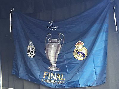 Bandiera / Flag Juventus - Real Madrid Finale Champions League 2017 Ucl Uefa