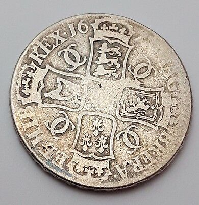 Dated : 1672 - King Charles Ii - Solid Silver - One Crown - Rare English Coin