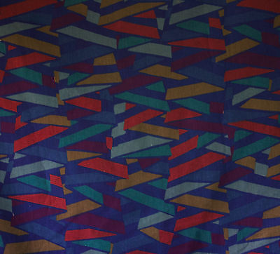 vintage 1980s Collier Campbell Fisba Havana geometric print cotton fabric