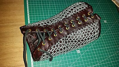 Leather chainmail bracers