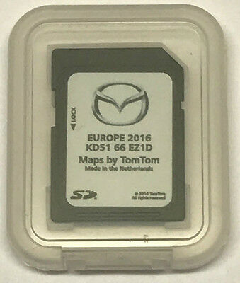 Mazda 6,cx-5 Navigation Nb1 Tomtom Sd Card Sat Nav Map Oem Maps 2016 Kd5166Ez1D