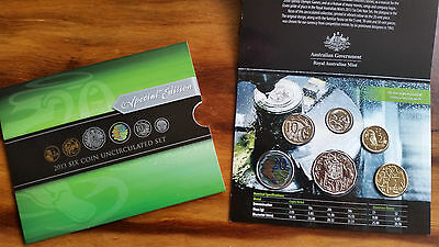 2013 RAM UNC 6 COIN SET--with coloured 20c coin