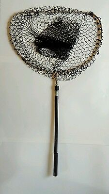 VINTAGE HARDY FLIP TROUT LANDING NET - With new knotless net