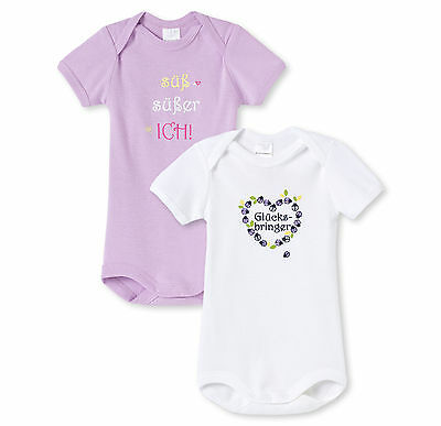 SCHIESSER Baby bodysuit Proverbs Double pack Size 56-104 Bodies Short sleeve 100
