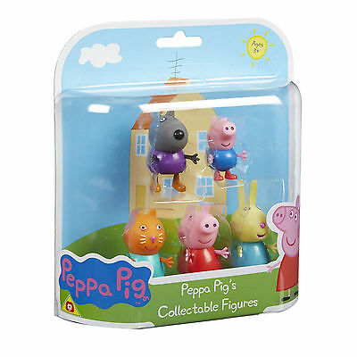 Peppa Pig 5-Figure Pack Danny Dog, George, Candy Cat, Peppa & Rebecca Rabbit