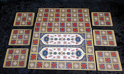 Genuine Royal Crown Derby Imari set of 6 Placemats and 6 Coasters Romany