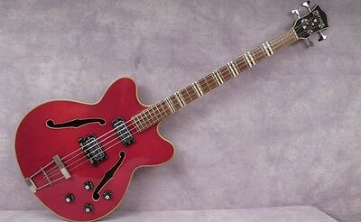 1966 Hofner Verithin Bass - Cherry Red Refinish -  Andy Baxter Bass