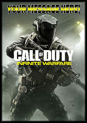 An A4 Call of Duty (COD) Infinite Warfare Personalised Cake Topper ICING