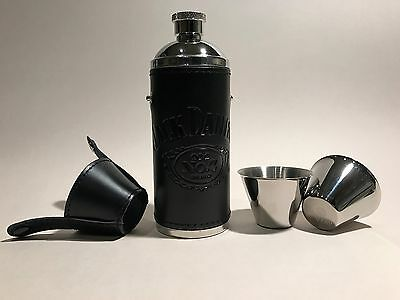 *jack Daniel's Black Leather Travel Flask