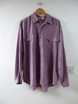 Unbranded vintage pure silk over sized shirt mens/ladies size XL