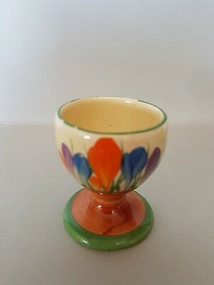 Clarice Cliffe rare Autumn Crocus pattern footed egg cup