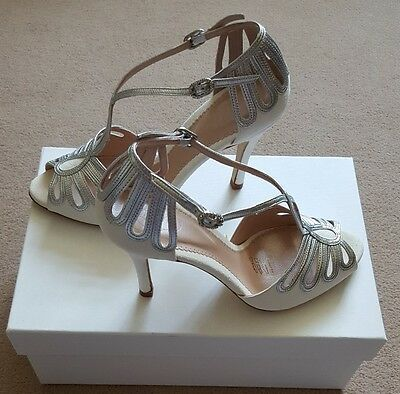 emmy london leila silver size 4 eu37 new!! Wedding, bridal, bridesmaid, prom