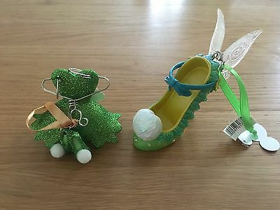 Disney Tinker Belle Dress Hanger Costume & Shoe Ornament Tree Decoration, Bnwt