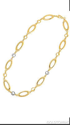 14kt Yellow Gold With Diamond Fancy Necklace & Earring