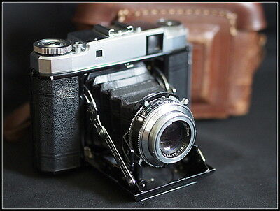 Zeiss Ikon Super Ikonta 531/16 with Case. Instructions. Tessar 75mm 3.5