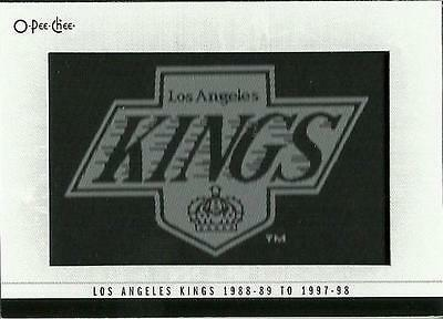 2013-14 O-Pee-Chee OPC Patches 120 Los Angeles Kings 88-89 to 97-98 Patch 120