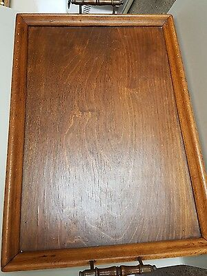 Antique vintage large oak tray in good useable condition