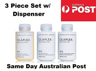 Olaplex No. 1 (100ml) + No. 2 (100ml) + No. 3 (100ml) + Dispenser FREE SHIPPING