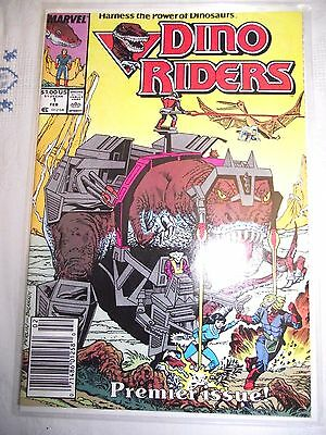 Dino Riders #1 Premier Issue base on cartoontoys 1989 Newsstand edition FN