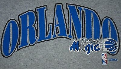 Vintage Usa Orlando Magic Nba Basketball Team Starter Sweatshirt Jumper Grey L