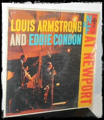 1956 LOUIS ARMSTRONG AT NEWPORT AMERICAN JAZZ FESTIVAL Vintage LP