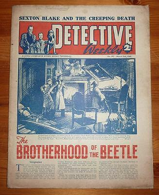 DETECTIVE WEEKLY No 367 2ND MAR 1940 THE BROTHERHOOD OF THE BEETLE, S BLAKE