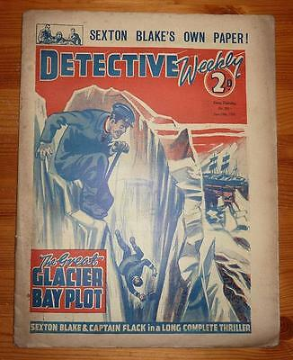 DETECTIVE WEEKLY No 331 24TH JUNE 1939 THE GREAT GLACIER BAY PLOT, SEXTON BLAKE
