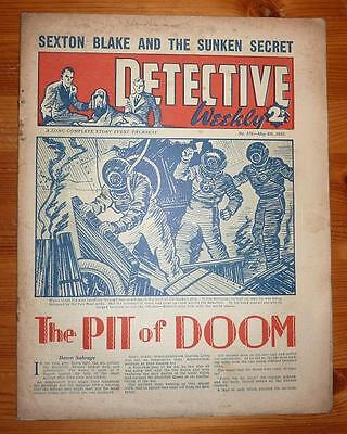 DETECTIVE WEEKLY No 376 4TH MAY 1940 THE PIT OF DOOM, SEXTON BLAKE