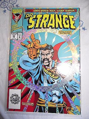 Dr Strange #50 with Ghost Rider/Hulk/Silver Surfer Over-sized, Foil cover VF