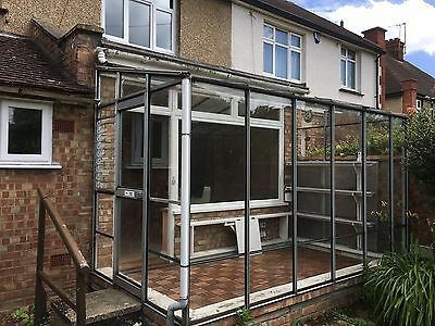 Conservatory lean to glass and aluminium