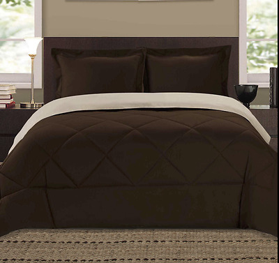 GOOSE DOWN ALTERNATIVE DOUBLE FILLED LUXURY COMFORTER KING QUEEN  Size